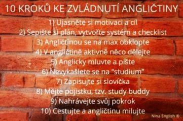 10 kroků ke zvládnutí angličtiny (Nina Hanáková)